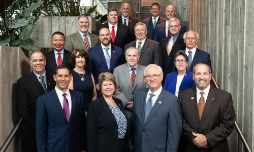Members of the APWA Board of Directors pose for a photo